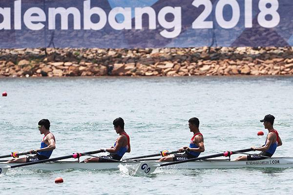 Jeux asiatiques: l'équipe hommes d'aviron coréenne unifiée termine dernière aux qualifications