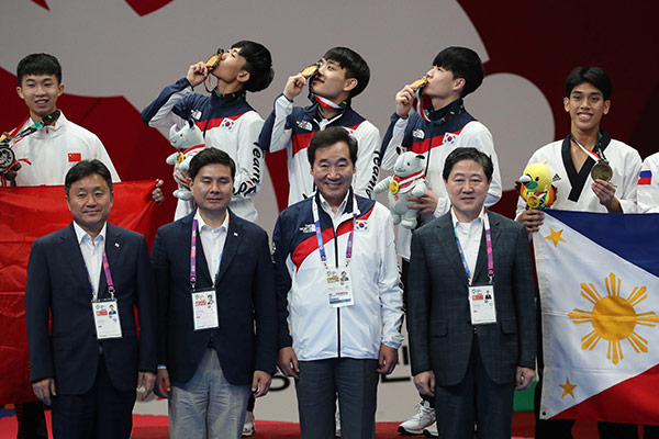 Jeux asiatiques : la Corée du Sud gagne 2 médailles d'or au taekwondo poomsae