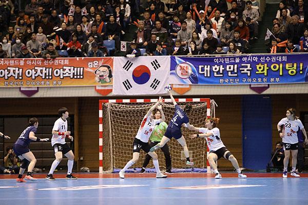 Südkoreanische Frauen-Handballmannschaft gewinnt Asienmeisterschaft