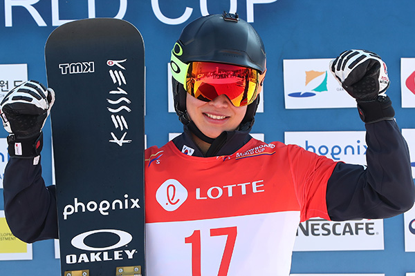 Snowboarder Lee Sang-ho erreicht Podestplatz bei Weltcup in Pyeongchang
