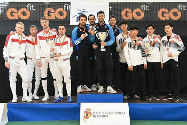 Südkoreanische Säbelfechter gewinnen Weltcup-Bronze im Mannschaftswettbewerb