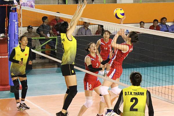 """Südkoreanische Volleyballerinnen gewinnen erstes Spiel bei """"Asean Peace Cup"""""""