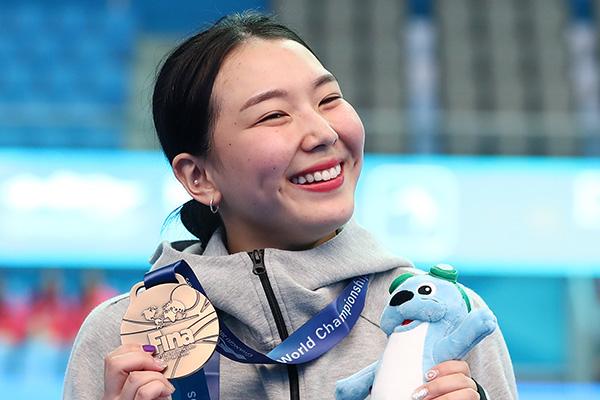 Schwimm-WM 2019: Wasserspringerin Kim Su-ji gewinnt Bronze