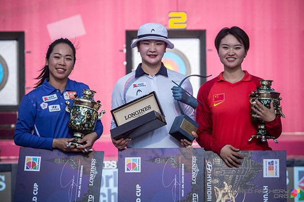 Bogenschützin Kang Chae-young gewinnt World Cup Final