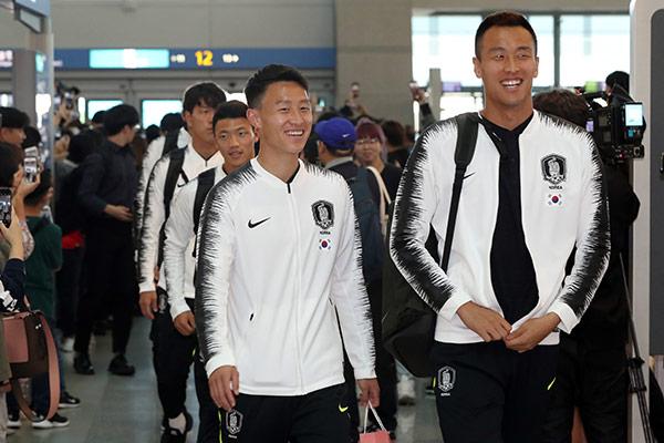 Südkoreanische Nationalelf bestreitet WM-Qualifikationsspiel gegen Nordkorea