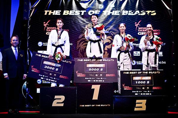 Taekwondo-Athletin Kim So-hui belegte zweiten Platz bei World Grand Prix in Sofia