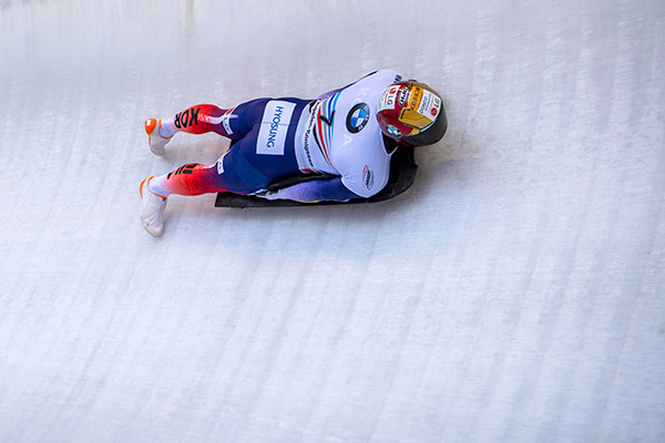 Skeleton-Fahrer Yun Sung-bin belegt dritten Platz bei Weltcup in Sigulda