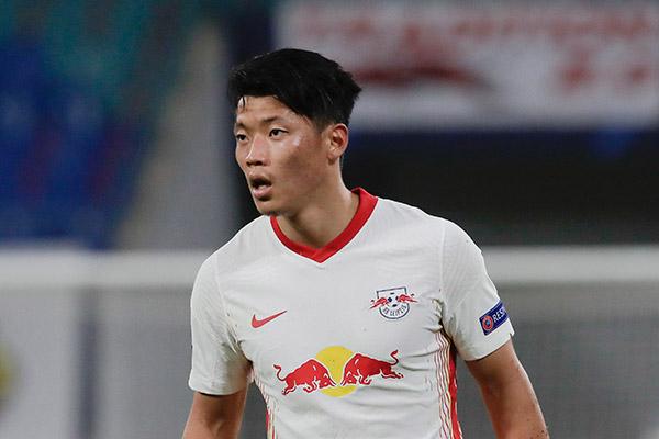 Hwang Hee-chan nach Coronapause wieder für RB Leipzig im Einsatz