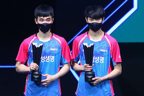 Südkoreanisches Tischtennis-Doppel gewinnt erstes WTT-Turnier in Doha