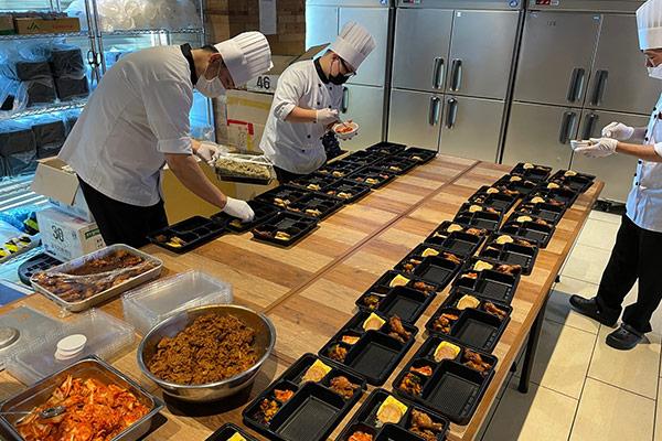 Südkoreanische Olympia-Athleten werden von eigenem Küchenpersonal versorgt
