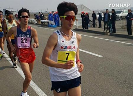 Geher Kim Hyun-seop gewinnt Asien-Meisterschaft über 20 km