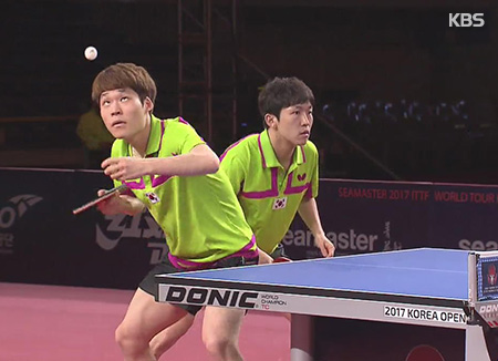 郑尚恩/张宇镇问鼎乒乓球韩国公开赛冠军