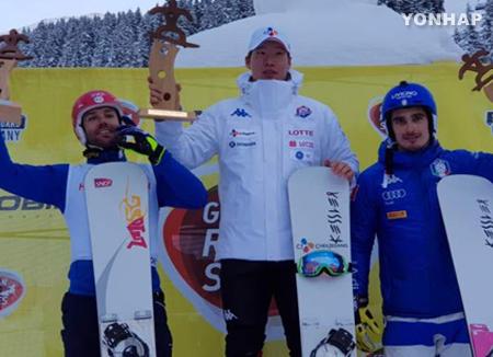 Snowboarder Lee Sang-ho gewinnt Europacup-Parallel-Riesenslalom