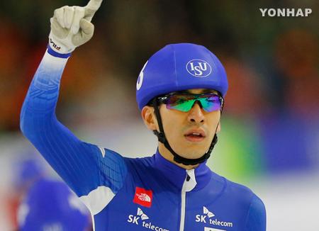 Eisschnellläufer Lee Seung-hoon gewinnt in Salt Lake City im Massenstart