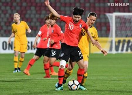 Südkoreanische Frauen-Fußballmannschaft konkurriert gegen Philippinen um letztes WM-Ticket
