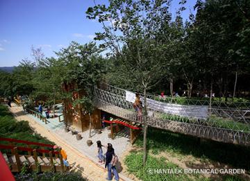 Eco theme park called Hantaek Botanical Garden.