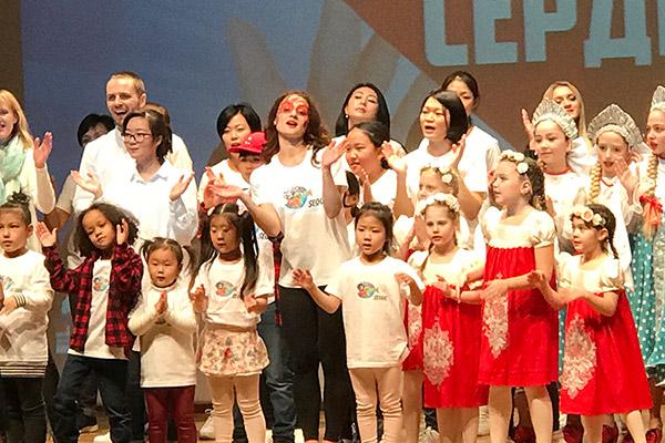 """Благотворительный концерт  """"Открывая сердце"""" в Сеуле"""
