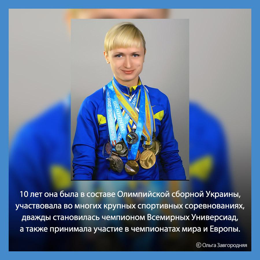 Легкоатлетка Ольга Завгородняя из Украины