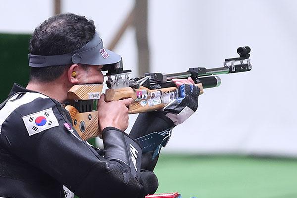 東京パラ射撃、パク・チノが銀メダル 金メダルと僅か0.1点差