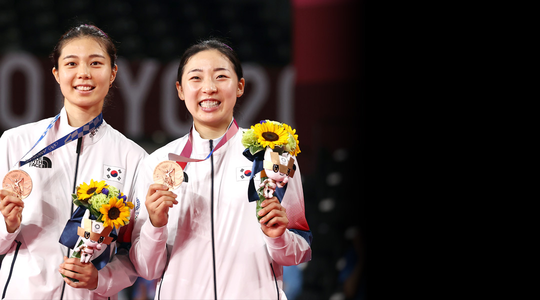 كوريا الجنوبية تفوز بالميدالية البرونزية في كرة الريشة زوجي السيدات في أولمبياد طوكيو