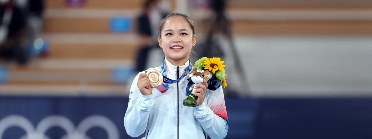 Olympia in Tokio: Turnerin Yeo Seo-jeong gewinnt Bronze im Sprung