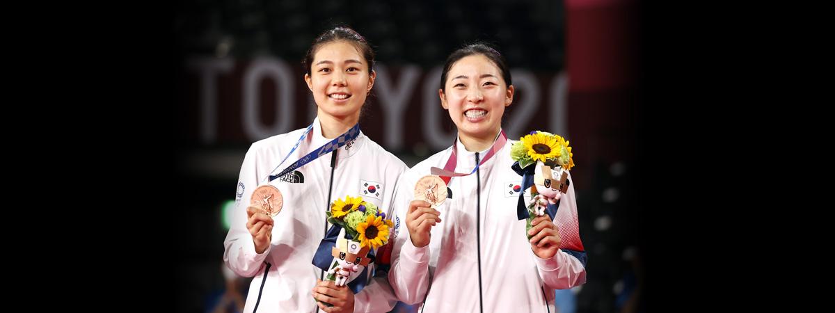 Olympia in Tokio: Südkoreanisches Duo Kim/Kong gewinnt Bronze im Badminton-Frauendoppel